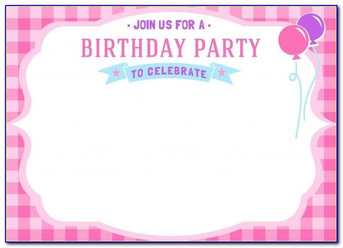 Baby Birthday Invitation Card Psd Free Download