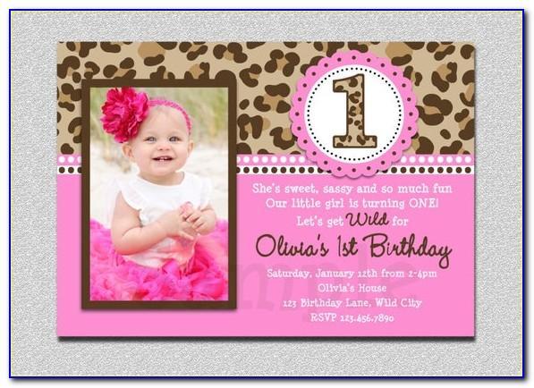 Baby Boy Birthday Card Invitation