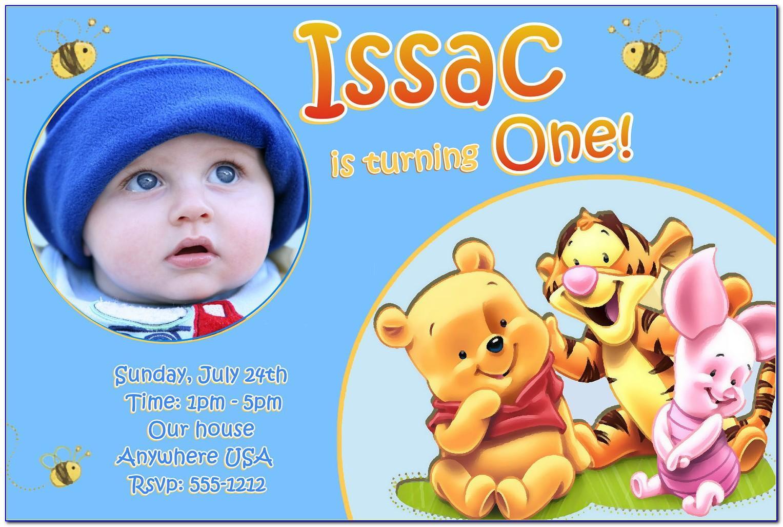 Baby Boy Birthday Invitation Card Maker