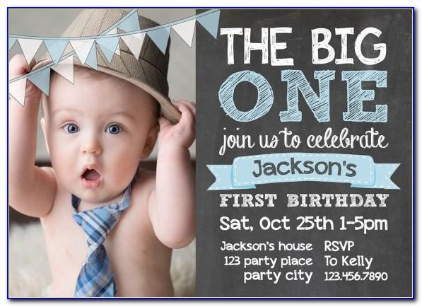 Baby Boy Birthday Invitation Card Matter