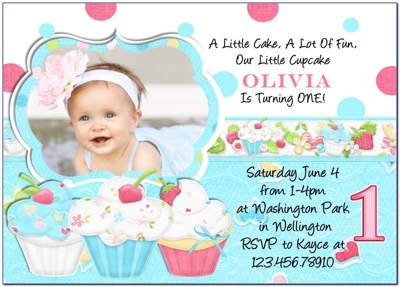 Baby Boy First Birthday Invitation Cards Free