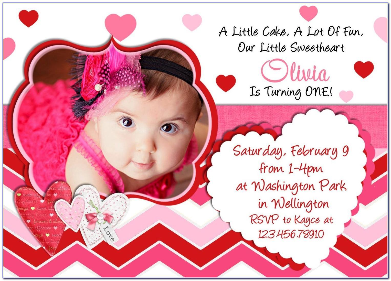 Baby Girl Birthday Invitation Card Design