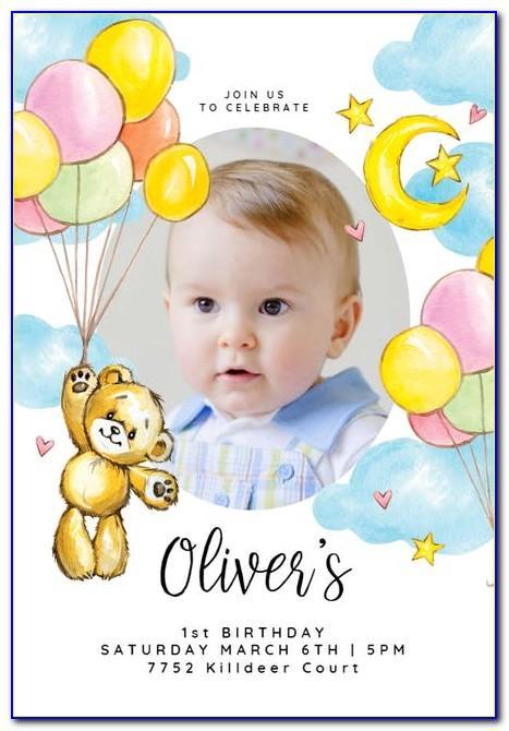 Baby Girl Birthday Invitation Card In Marathi