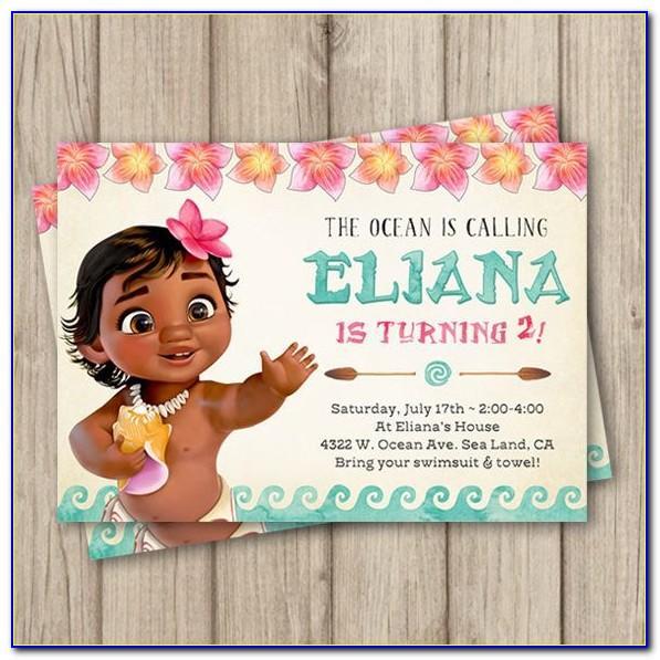 Baby Moana Birthday Card