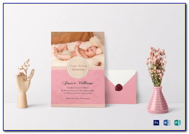 Baby Naming Ceremony Invitation Card Template Free Download