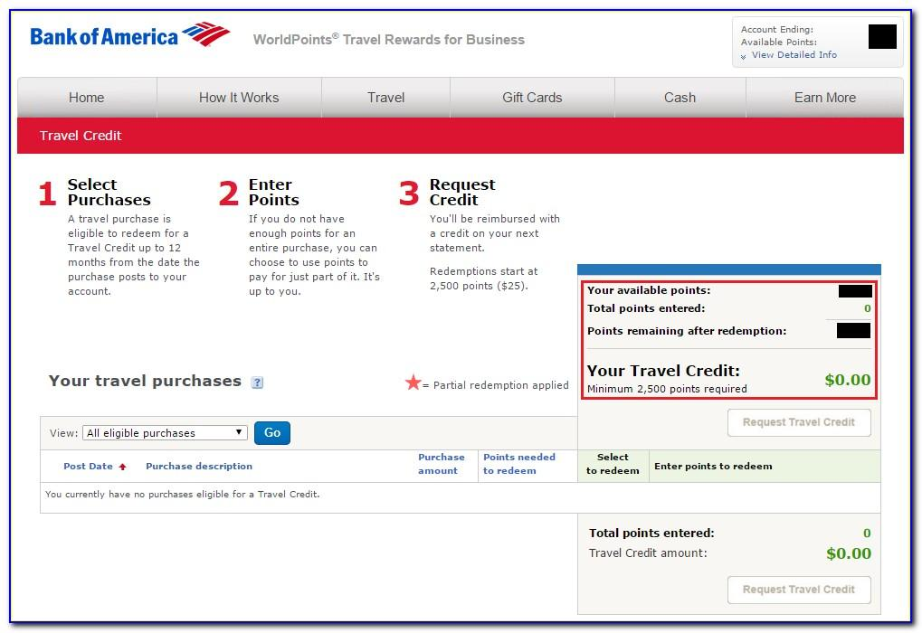 Bank Of America Worldpoints Business Card