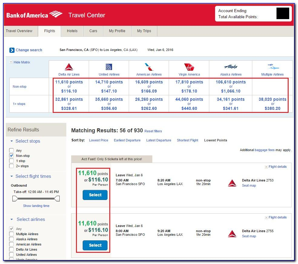 Bank Of America Worldpoints Travel Rewards Business Card