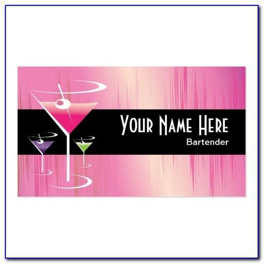 Bartender Business Cards Designs