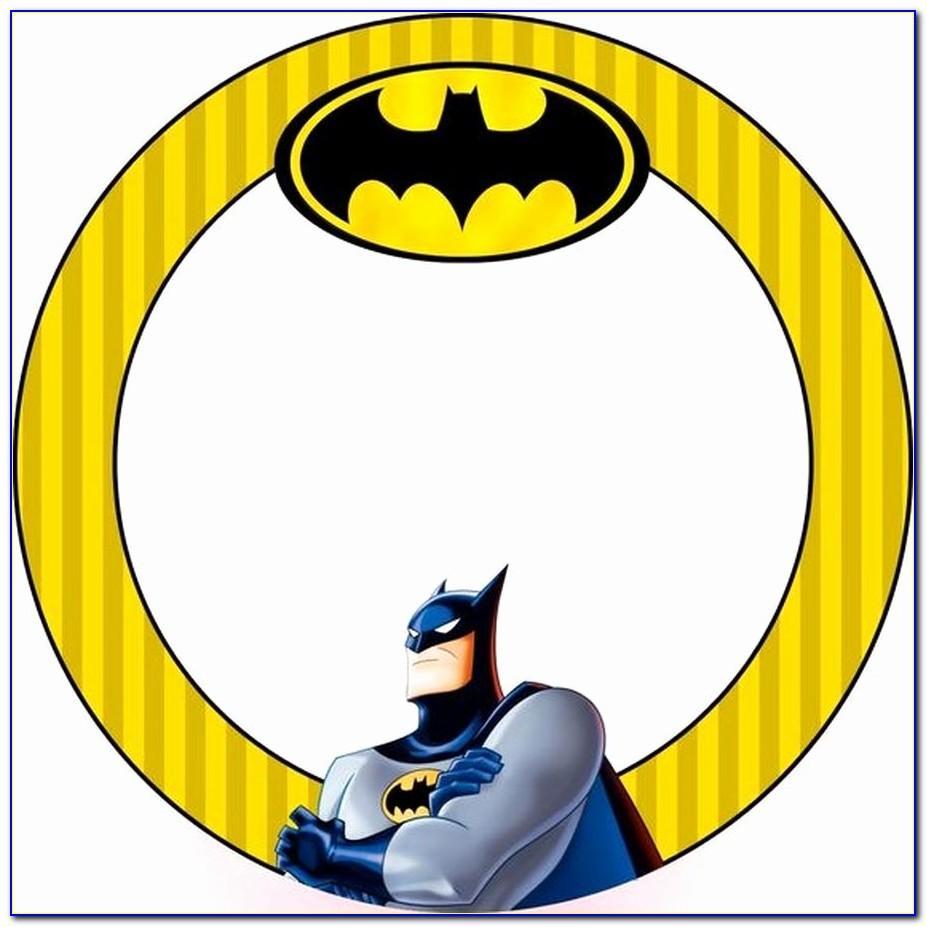 Batman Birthday Card Template