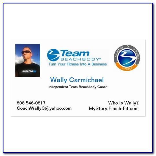 Beachbody Coach Business Cards