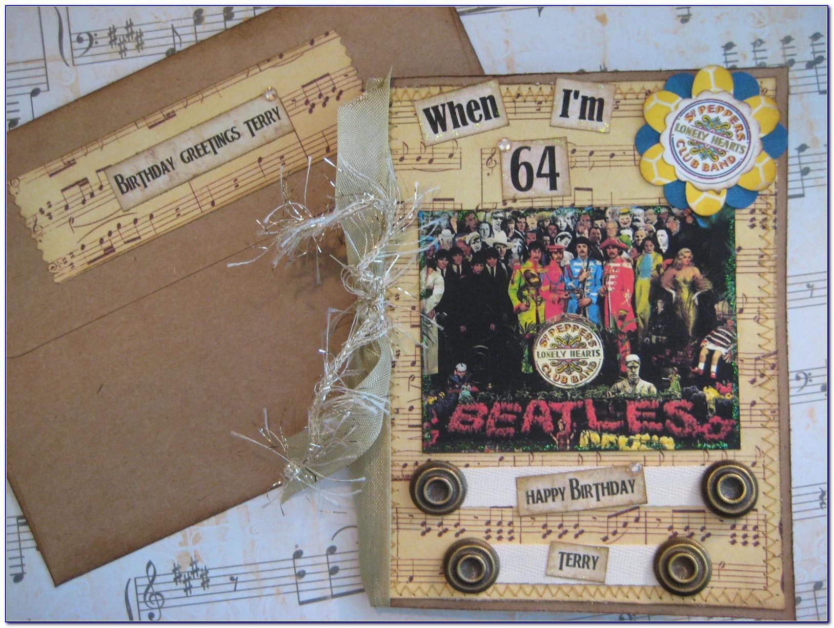 Beatles 64th Birthday Card