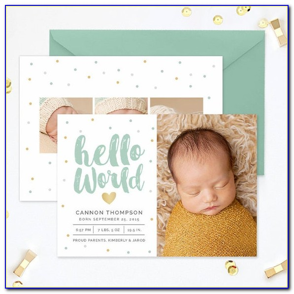 Birth Announcement Cards Free Template
