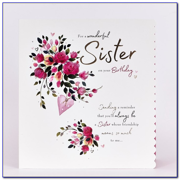 Birthday Card For Sister Images