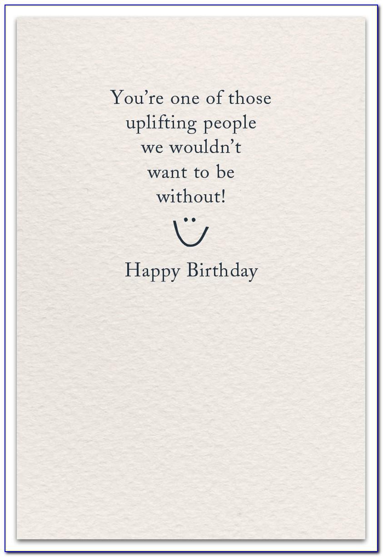 Birthday Card Inside Sayings