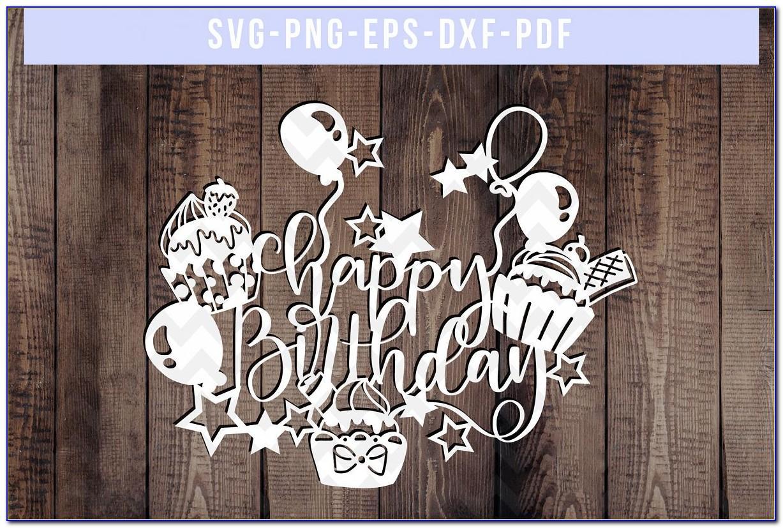 Birthday Card Svg For Cricut