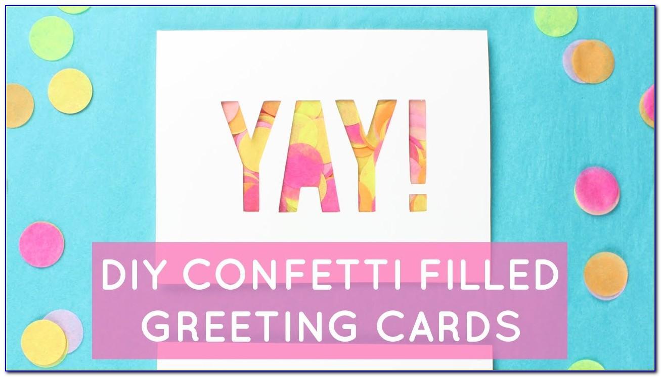 Birthday Card That Shoots Confetti Diy
