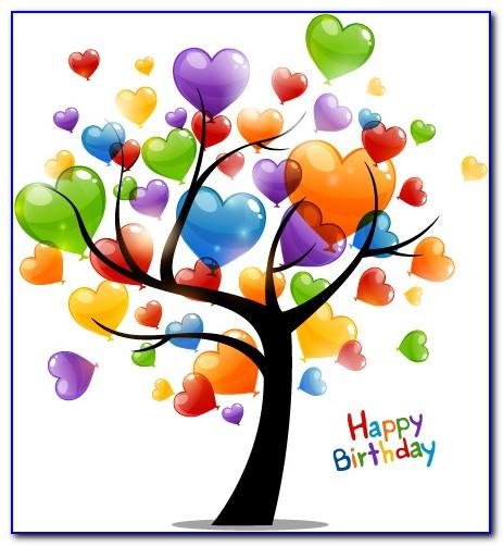Birthday Card Vector All Free Download