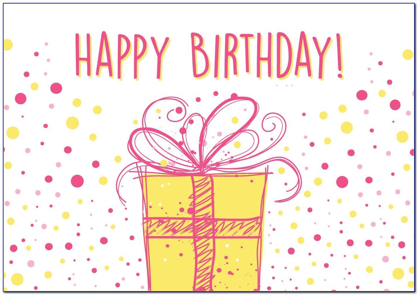 Birthday Card Vector Design Free Download