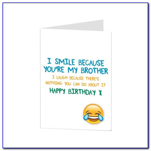 Birthday Cards For Younger Brother With Name