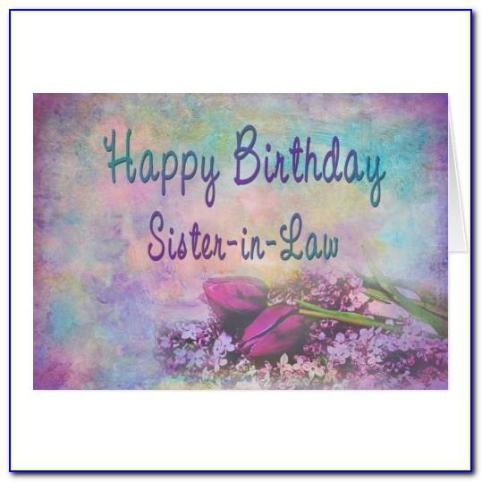 Birthday Greeting Card For Sister In Law