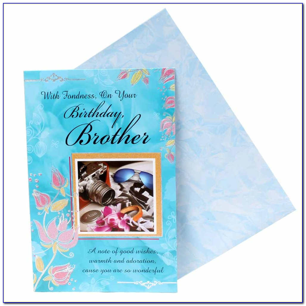 Birthday Greeting Cards For Brother With Name