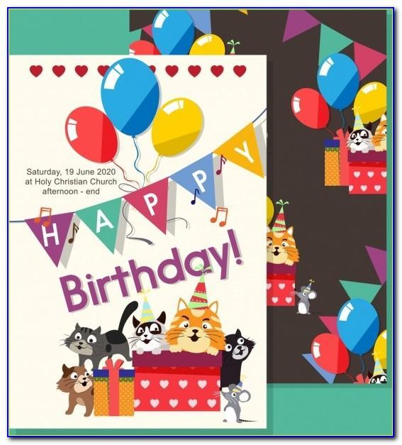 Birthday Invitation Card Design Cdr File Free Download