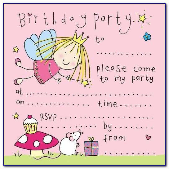 Birthday Invitation Card Design Download