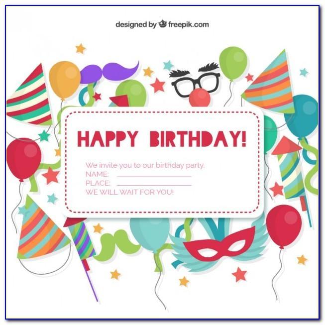 Birthday Invitation Card Free Download