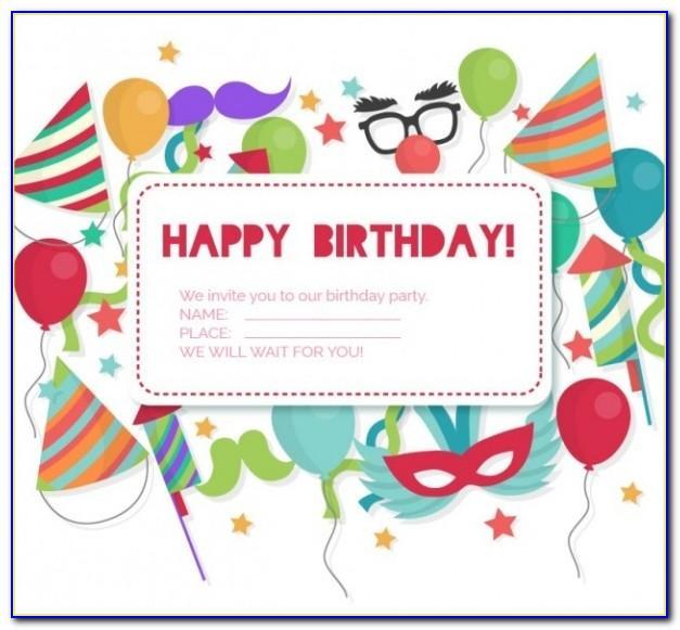 Birthday Invitation Card Maker With Photo Free