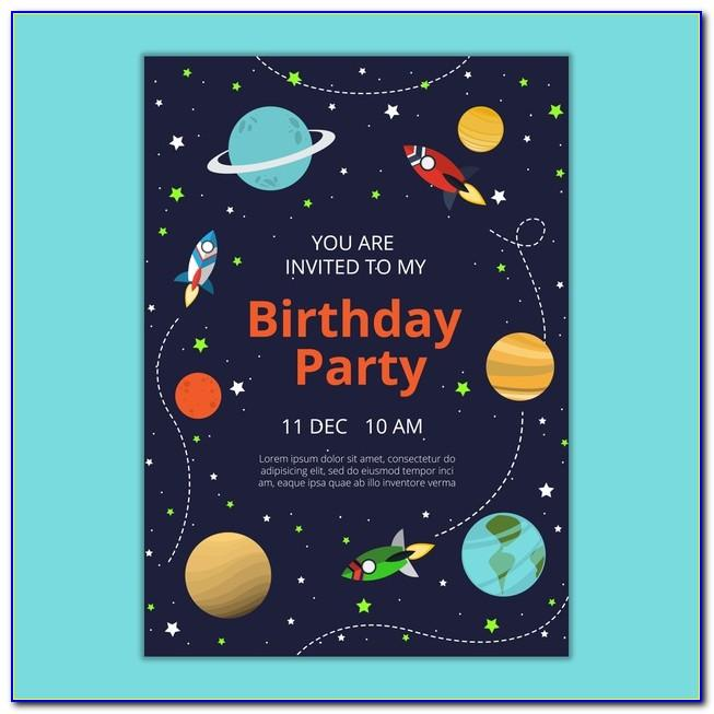 Birthday Invitation Card Template Free Download Vector
