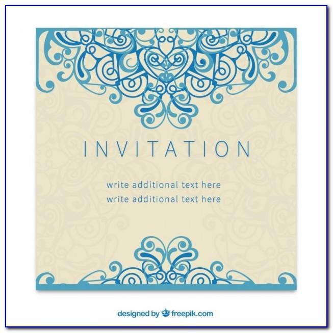 Birthday Invitation Card Template Free Psd