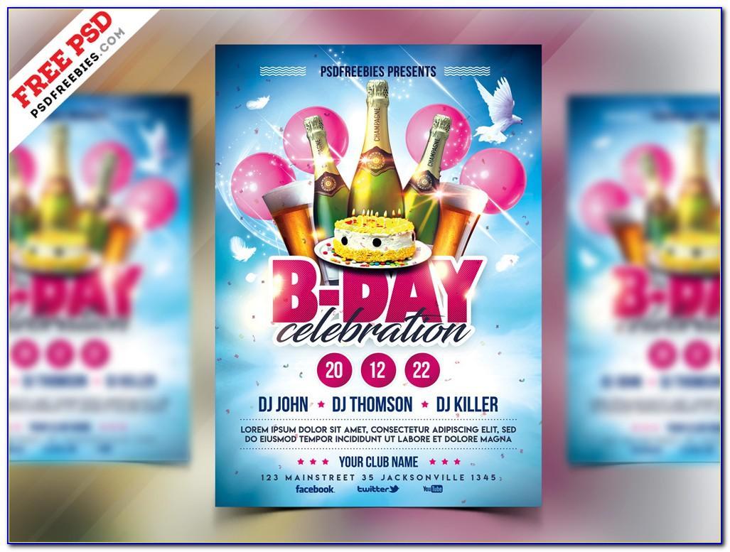 Birthday Invitation Card Templates Free Download