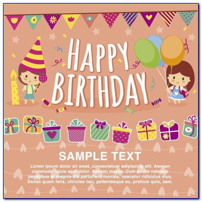 Birthday Invitation Card Vector Free Download