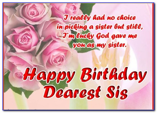 Birthday Wishes For Sister Images Download