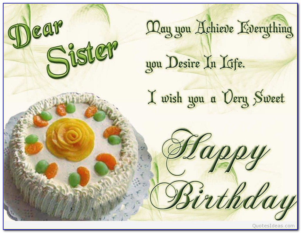 Birthday Wishes For Sister Images Free Download