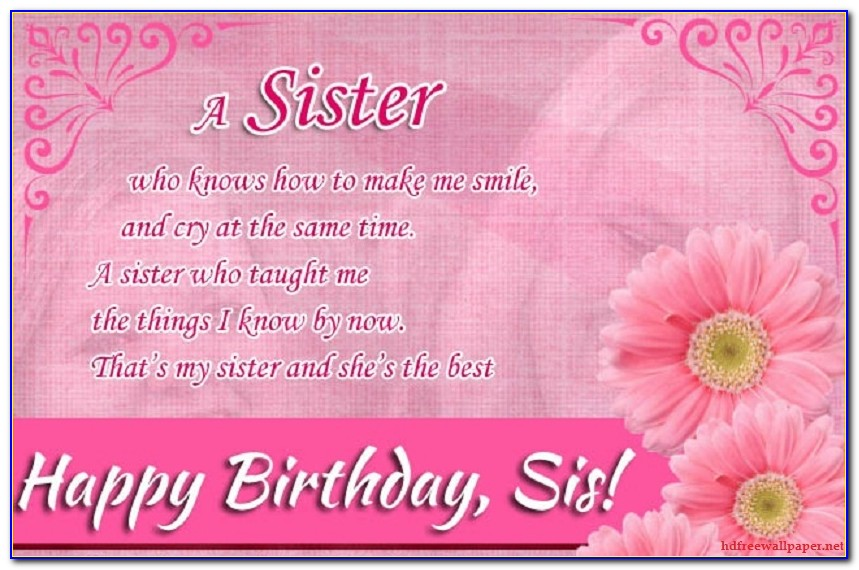 Birthday Wishes For Sister Images Hd