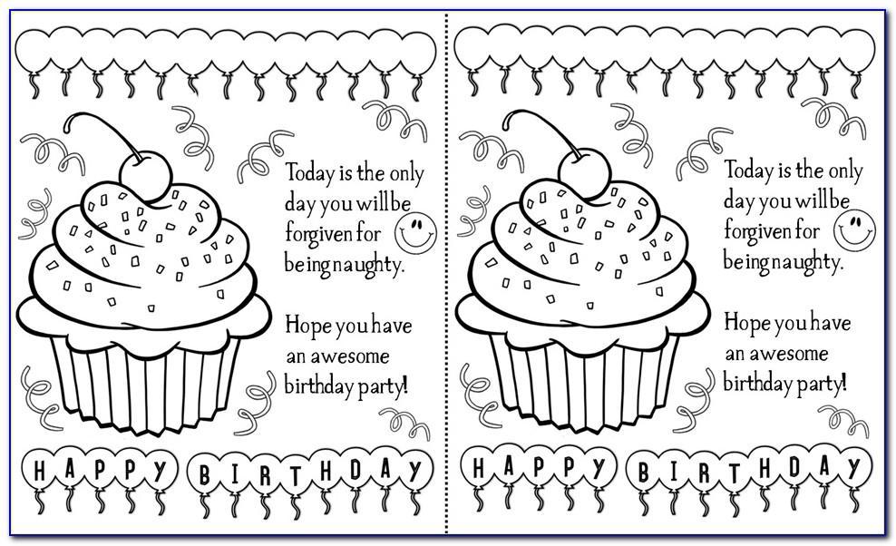 Black And White Birthday Cards Printable