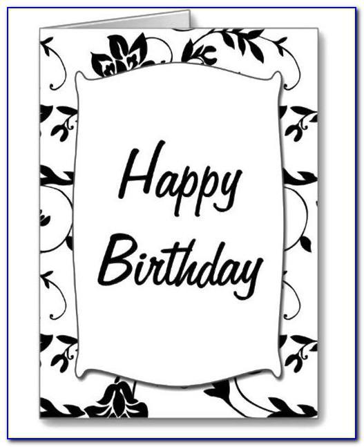 Black And White Happy Birthday Card Printable