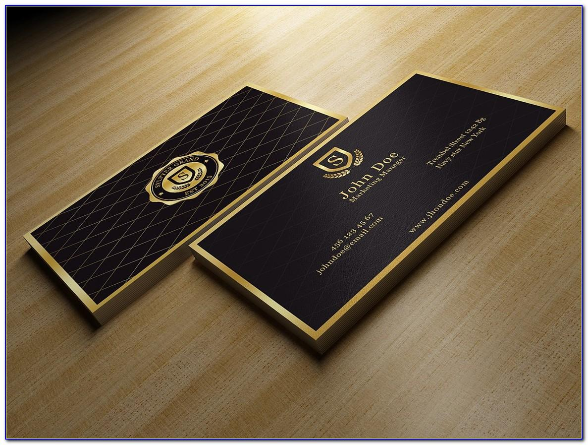 Black Gold Business Card Templates