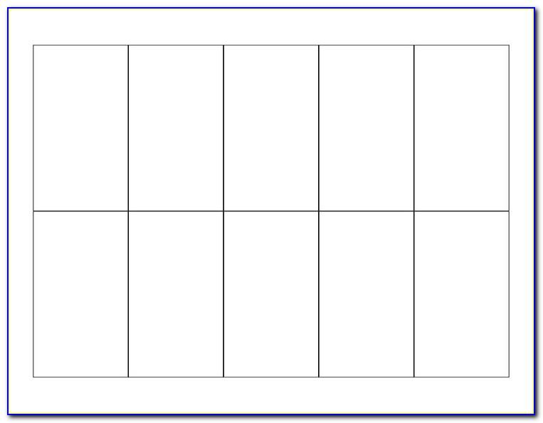 Blank Card Template Pdf