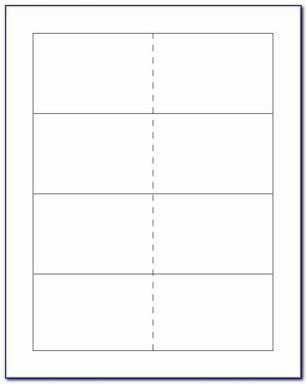 Blank Card Template Word Free