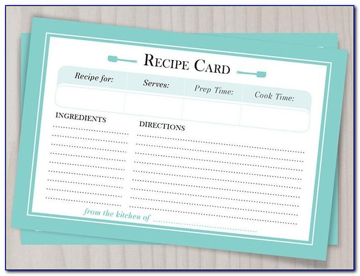 Blank Recipe Card Template For Word