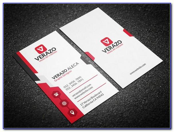 Blank Vertical Business Card Template Word