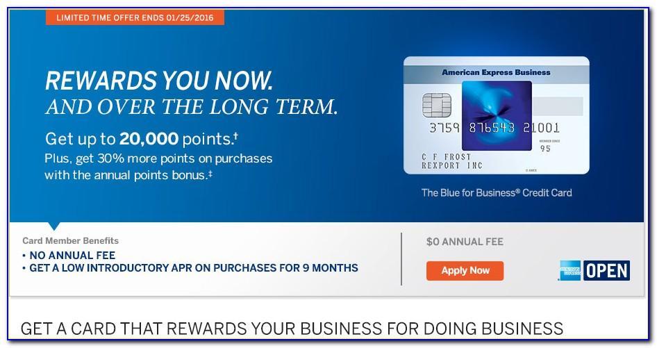 Blue Business Card Amex