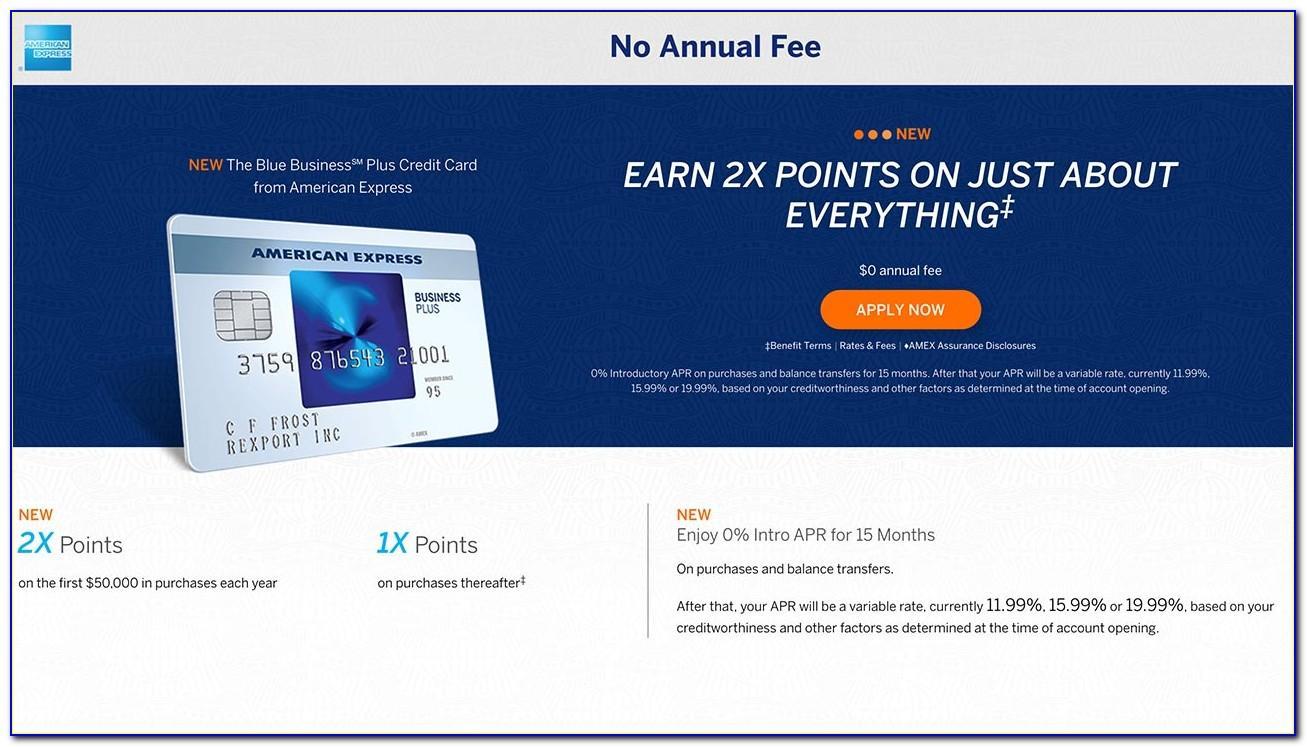 Blue Business Plus Card Amex