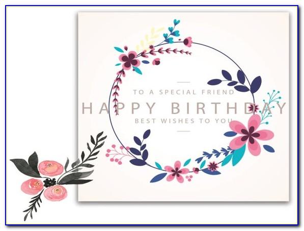 Boho Birthday Card Free