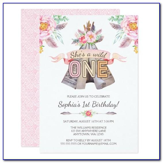 Boho Birthday Invitation Cards