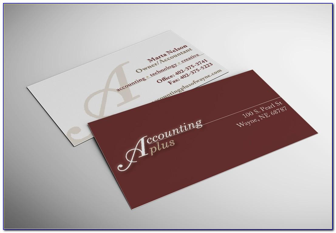 Bookkeeping Business Card Ideas