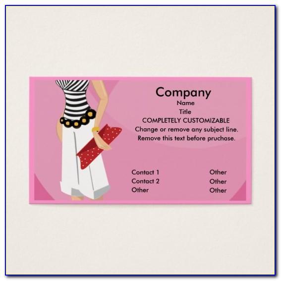 Boutique Business Card Format