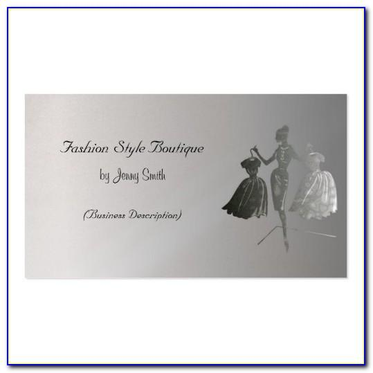 Boutique Visiting Card Format